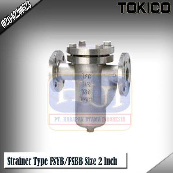 Jual Flow Meter Tokico Strainer/Saringan Tokico Type Strainer Type FSYB/FSBB Size 2 inch(DN50mm)