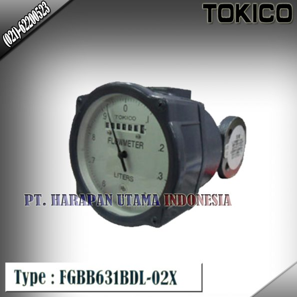 Flow Meter TOKICO For Oil Type : FGBB631BDL-02X (Non Reset Counter) Size 3/4 Inch (DN20mm)